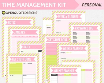 Filofax Personal Planner Inserts, Printable Planner Pages, Daily Planner, Weekly Planner, Personal Printable Filofax, Agenda Daily Schedule