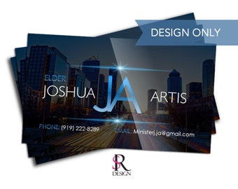 Business Card Design, Cityscape, Design Only