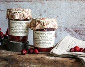 Fresh Whole Cranberry Ginger Pear Chutney- Perfect for your holiday celebrations