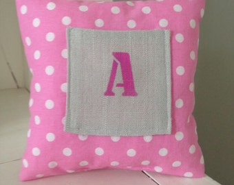 Toothfairy pillow - Pink with dots