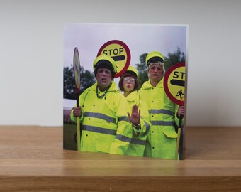 Lollipop Ladies - a comedy walkabout drag act at Glastonbury music festival