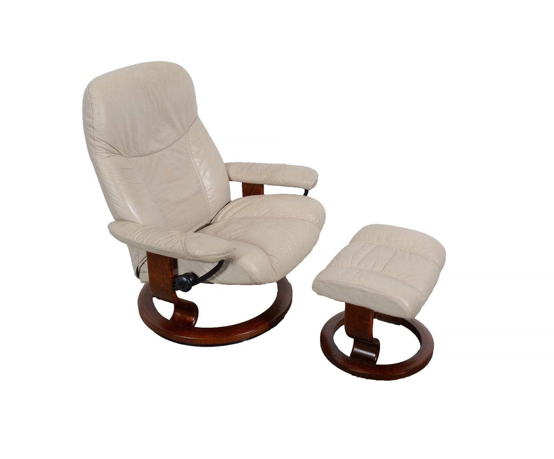 Leather Ekornes Stressless Reclining Chair Ottoman Norway