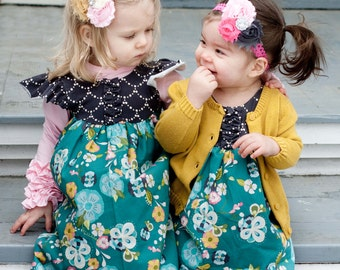 Baby Flutter Sleeve Dress, Easter Dress, Girls Butterfly Dress, Girls Dress, Baby Butterfly Top, Size 0-3 mo to 18-24 mo