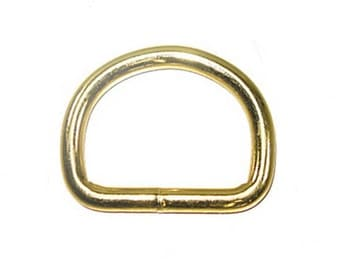 "1-1/2"" D-Ring Brass Plated - 10 Pack"