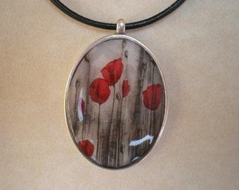 Flowers pendant - Flowers resin pendant - Art pendant - Art jewelry - Resin pendant - Digital print