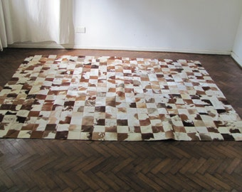 Cowhide Patchwork Rug 6712          240 cm x 180 cm (7.9 ft x 5.9 ft)