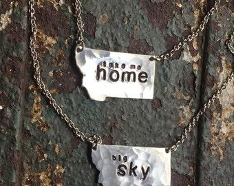 Take me HOME to Montana necklace