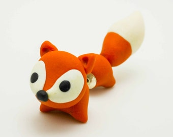 Fox earring stud