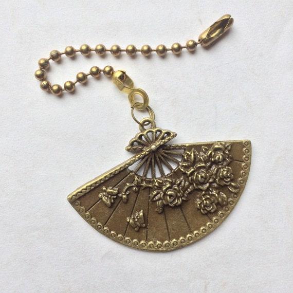 Items Similar To Ceiling Fan Pull Large Bronze Lady S Fan