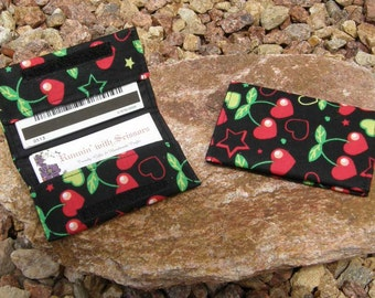 Cherry Hearts Business Cardholder/Mini-Wallet