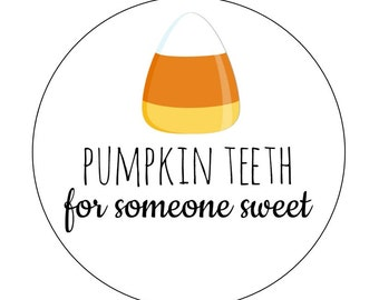 20 Pumpkin Teeth Labels, Instant Download, Pumpkin Theme, PDF Pumpkin, Candy Corn Tags, DIY, Printable Labels, Halloween Party, Pumpkins