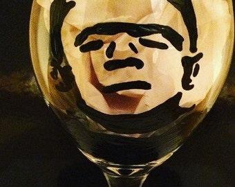 Frankenstein Wine Glass