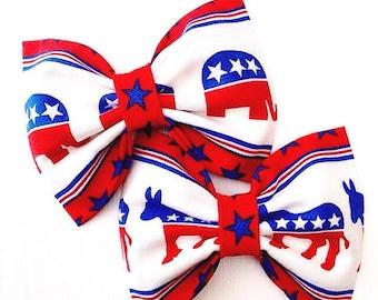 Political bow fabric democrat republican hair america USA