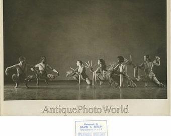 Modern ballet dancers knife hands vintage photo Berlin