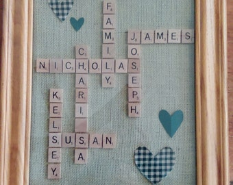 Personalized Family Names Framed Art