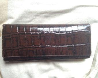 Genuine Crocodile Leather  Envelope / CLUTCH Purse