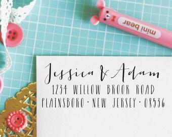 Custom Personalized Address Stamp - JESSICA Style