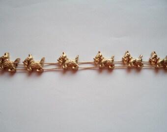 Vintage Unsigned Goldtone Slide Dog Bracelet