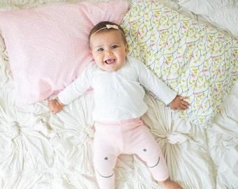 Organic Toddler Pillow Case - Pink Scribbles