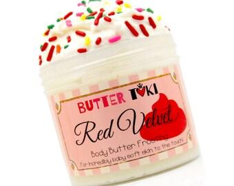 RED VELVET Cake Body Butter Frosting - Whipped Body Butter - Whipped Shea Butter - Cocoa Butter