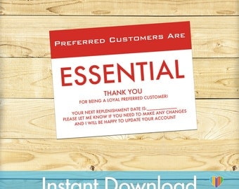 Instant Download - Preferred Customer Thank You Cards - Printable - DIGITAL FILE