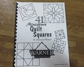 """Pattern Book - """"41 Miniature Quilt Squares"""" by Mrianne Warner - Stained Glass Pattern Book"""