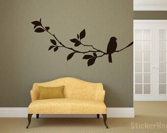 Bird Branch #1 Room Vinyl Wall Decal Graphics Bedroom Decor