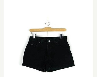 SUMMER SALE Free shipping!! Levi's Black Denim Shorts from 90's/W27*