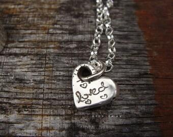 Loved Heart Sterling Pendant