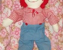 SHOP4FUN Huge Vintage Raggedy Andy Doll