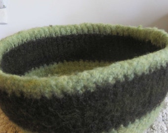 Hand Crocheted Felted Bowl