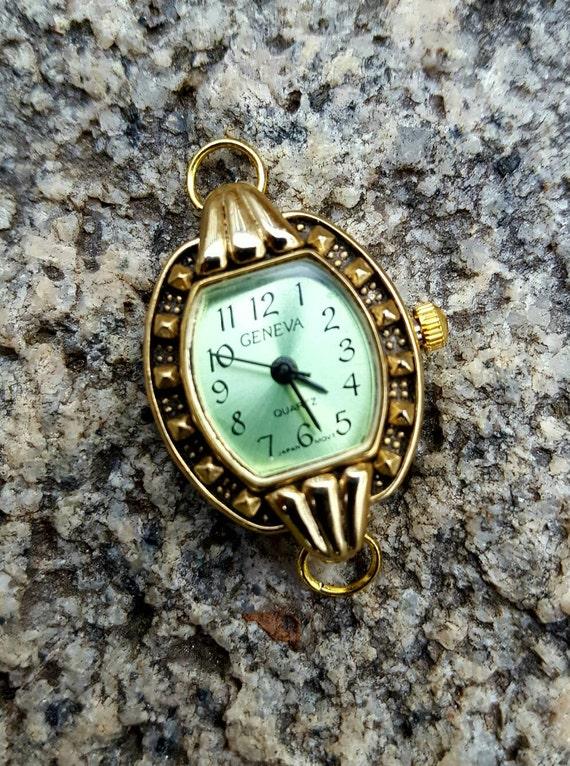Mint Green Beading Watch Face, Light Green Watch