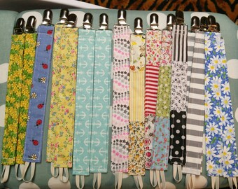 Assorted Colorful Pacifier Clips, Binky Leashes