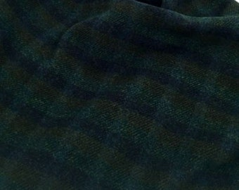 "Wool Fabric - Fat Eighth - Midnight Rider Plaid Wool - 100% Wool - 16"" x 12"""
