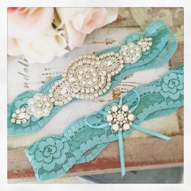 Personalized Wedding Garter Sets: Wedding Garter Sets Custom Made Bridal Accessories By