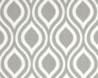 Nicole Storm Twill Premier Prints Fabric - One Yard - Gray / Grey and White Home Dec Fabric