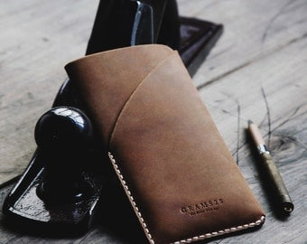 GRAMS28 | iPhone 6 / 6s / 7 Plus leather case with card holder, iPhone 6 / 6s / 7 Plus leather sleeve, iPhone 6 / 6s / 7 Plus leather Wallet