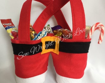 Santa trousers, sweet caddy, sweet bowl, christmas sweets, santa claus sweets, santa sweet caddy