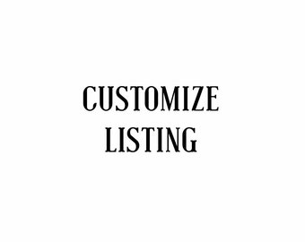 Customize listing for Yessica