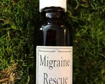 Migraine Rescue Herbal Tincture in Brandy Base - 1 oz. Migraine Relief, Headache Relief, Migraine Aid, Headache Tincture, Headache Remedy