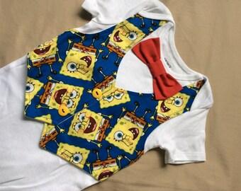 Baby boy  birthday vest bodysuit  with bow tie 18 months