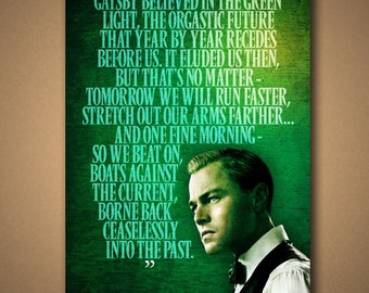 "The Great Gatsby ""GREEN LIGHT"" Quote Poster"