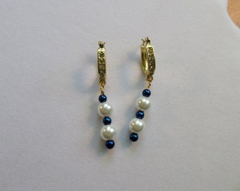 navy earrings