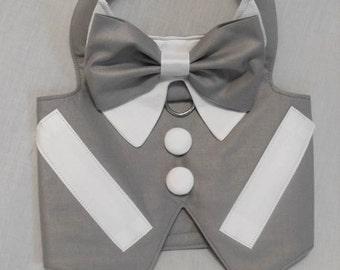 Gray wedding tuxedo