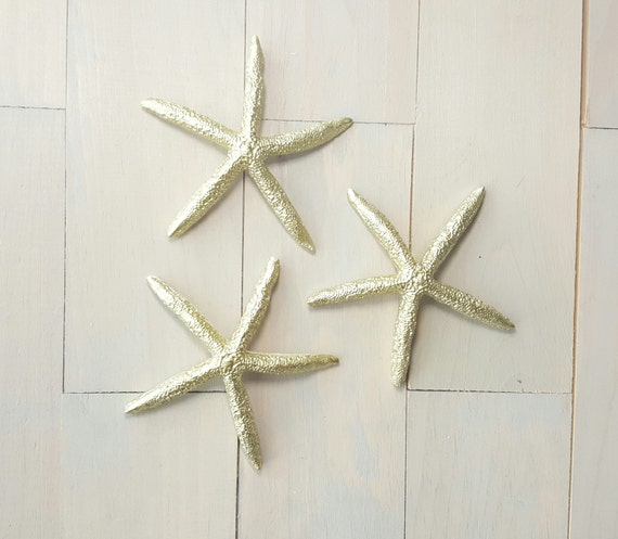 Gold Starfish Wall Decor : Gold starfish decor home beach wedding