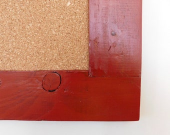 Large Framed Cork Board / Bulletin Board / Large Message Board / Shown in Barn Red / 24 x 36 *CHOOSE COLOR*