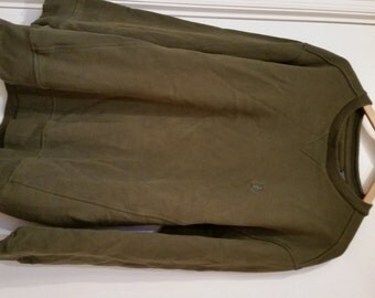 Izod Khaki Or Army Green Sweatshirt - Size Large/Tall