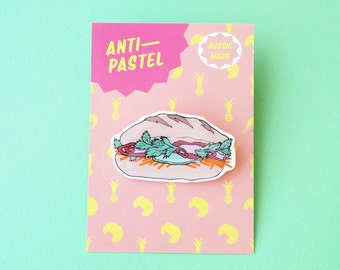 Badge: Banh Mi Pork Roll Brooch/Button
