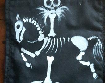 Skeleton Carousel Horse Patch