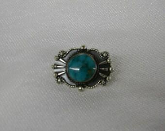 """Sterling Silver 925 Lovely Blue Classic Design Pendant 1/2"""" Long ET 6076"""